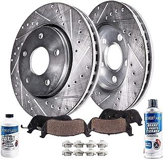 For Audi Passat Front Rear  Drill Slot Brake Rotors+Ceramic Pads Volkswagen A6