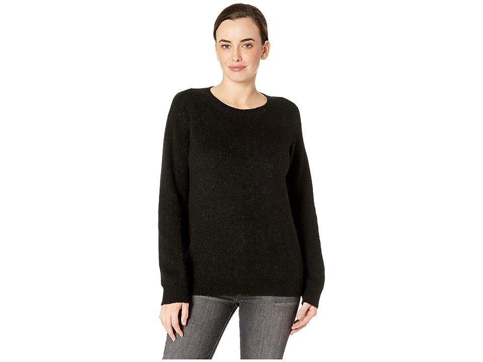 NYDJ Velvet Tie Back Sweater (Black) Women