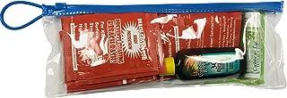 Beach Gladiator Travel Kit with 12 Rash Guard Towelettes, SPF 50 Lip Balm & SPF 30 Sunscreen Lotion