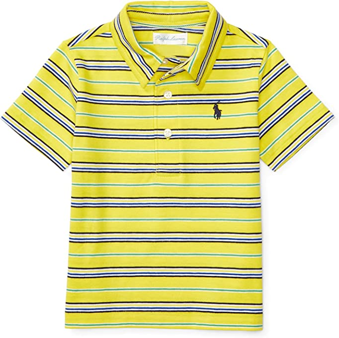 Ralph Lauren Striped Cotton Jersey Polo, Baby Boys