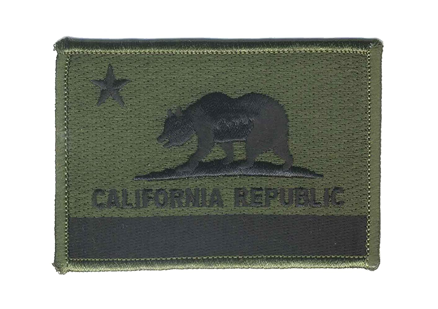 Strange Cargo California Republic State Olive Drab Flag Embroidered Patch 2.5