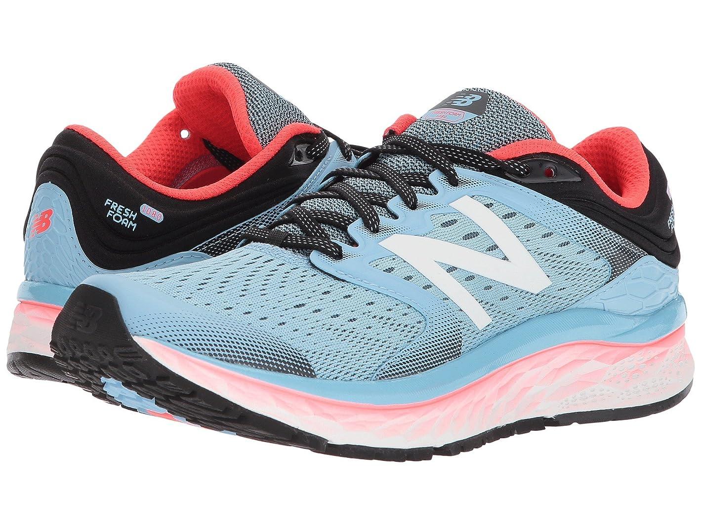 壁紙オピエート悪性の(ニューバランス) New Balance レディースランニングシューズ?スニーカー?靴 Fresh Foam 1080v8 Clear Sky/Vivid Coral/Black 11.5 (28.5cm) 2A - Narrow