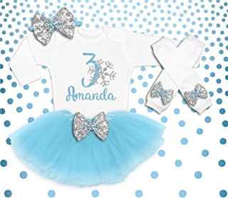 Baby Girl 3rd Birthday Outfit, Winter Birthday Shirt, Snow Flake 3rd Birthday Outfit, Winter Birthday Party Outfit, Birthday Tutu