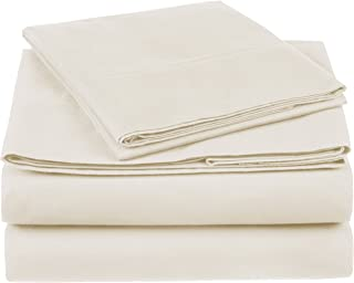 Pinzon 300 Thread Count Organic Cotton Bed Sheet Set - Twin, Natural