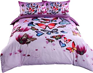 Details about  /Kids Quilted Bedspread /& Pillow Shams Set Flower Fairy and Ladybug Print