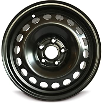 Road Ready Car Wheel For 2006-2016 Volkswagen Jetta 15 Inch 5 Lug Black Steel Rim Fits R15 Tire - Exact OEM Replacement - Full-Size Spare
