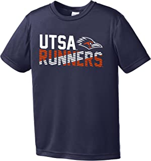 Image One NCAA Texas San Antonio Roadrunners Youth Boys Diagonal Short sleeve Polyester Competitor T-Shirt, Youth Small,Navy