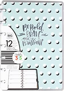 Me & My Big Ideas A Well Crafted Life Mini Planner, Teal White Polka Dots
