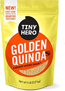 Tiny Hero Golden Quinoa, 5 lb Bag - Non-GMO Verified Canadian Grown Complete Protein Whole Grain Gluten Free Kosher Prewashed Ready to Cook Good Source of Protein, Iron, and Fiber