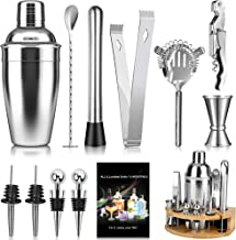 Tobeape Cocktail Shaker Set 750ml Bartender Making Kit with Wooden Stand, Home Bar Accessories Drink Mixer Cocktail Maker ...