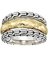 John Hardy - Classic Chain Hammered Ring