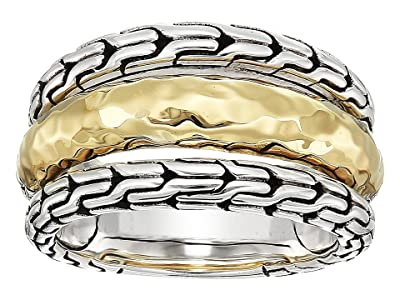 John Hardy Classic Chain Hammered Ring (18K Gold/Silver) Ring