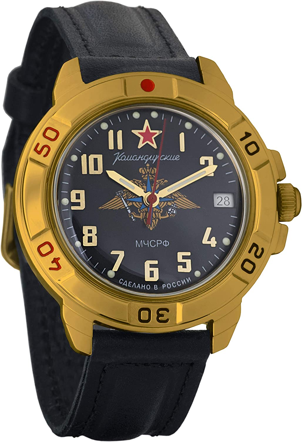 Vostok Komandirskie EMERCOM of Russia MChS Quality inspection RF Mi Mechanical Mens Free shipping anywhere in the nation