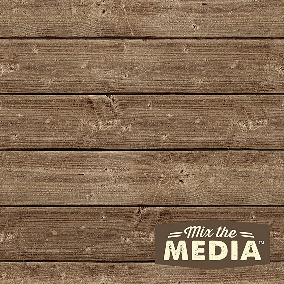 Hampton Art Mix The Media Wooden Plank Plaque, 8 by 8-Inch