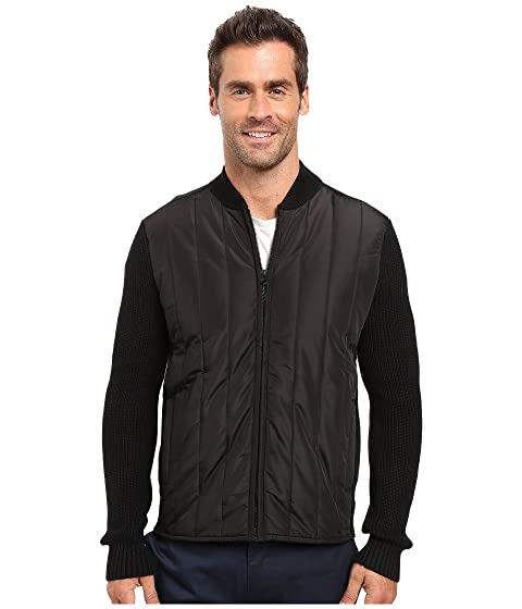 Kenneth Cole Sportswear Mens L/S Quilted Full Zip Black - Coats & Outerwear