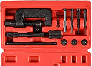 Drive Cam Chain Link Breaker, Professional Chain Press Riveting Cutter Removal Repair Tool Kit for Motorcycle, Bike, ATV and Dirt-Bike, 13 Pieces