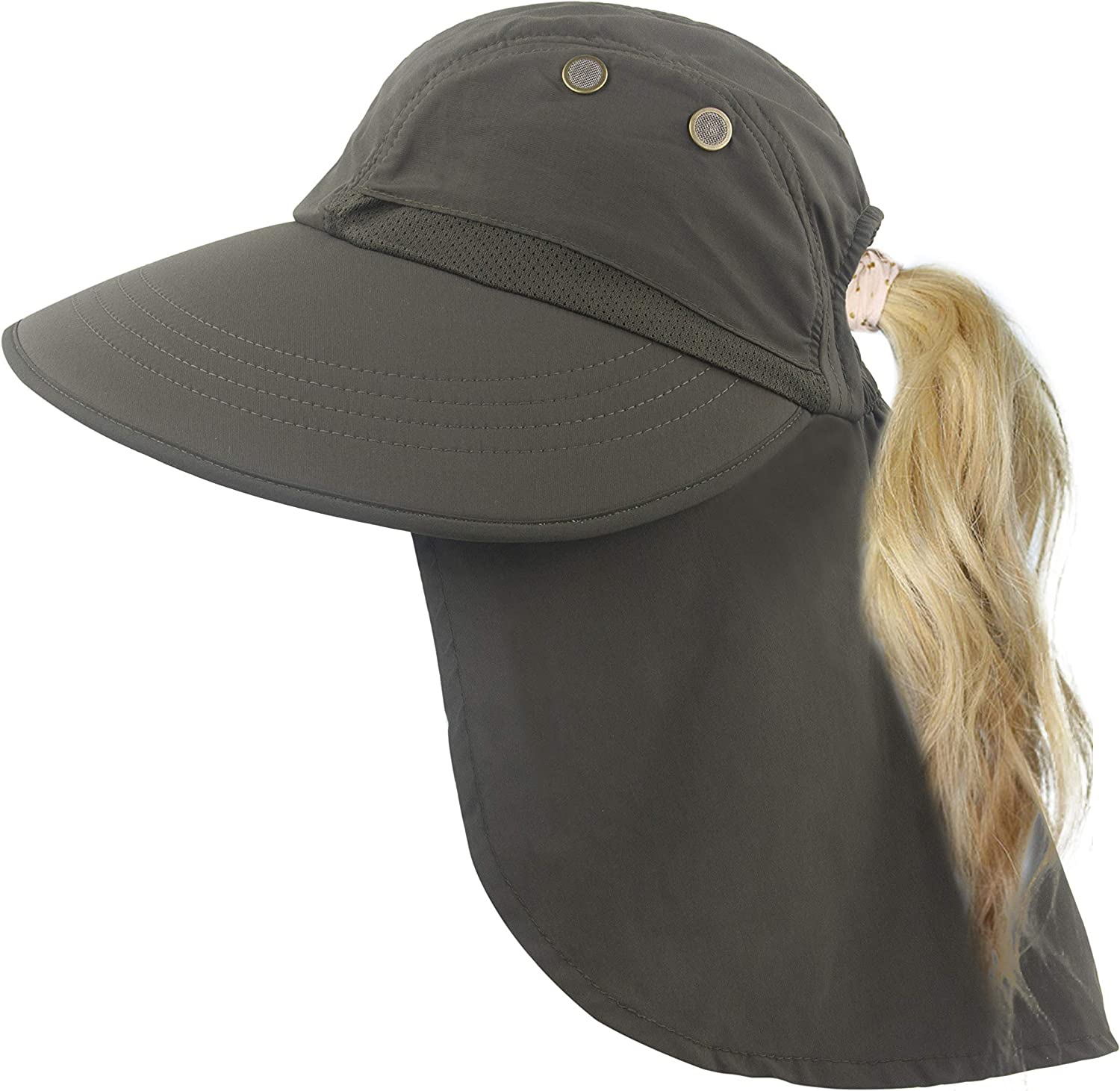 store Sun Hat with Ponytail Hole for Women Neck Max 46% OFF Fishing Flap