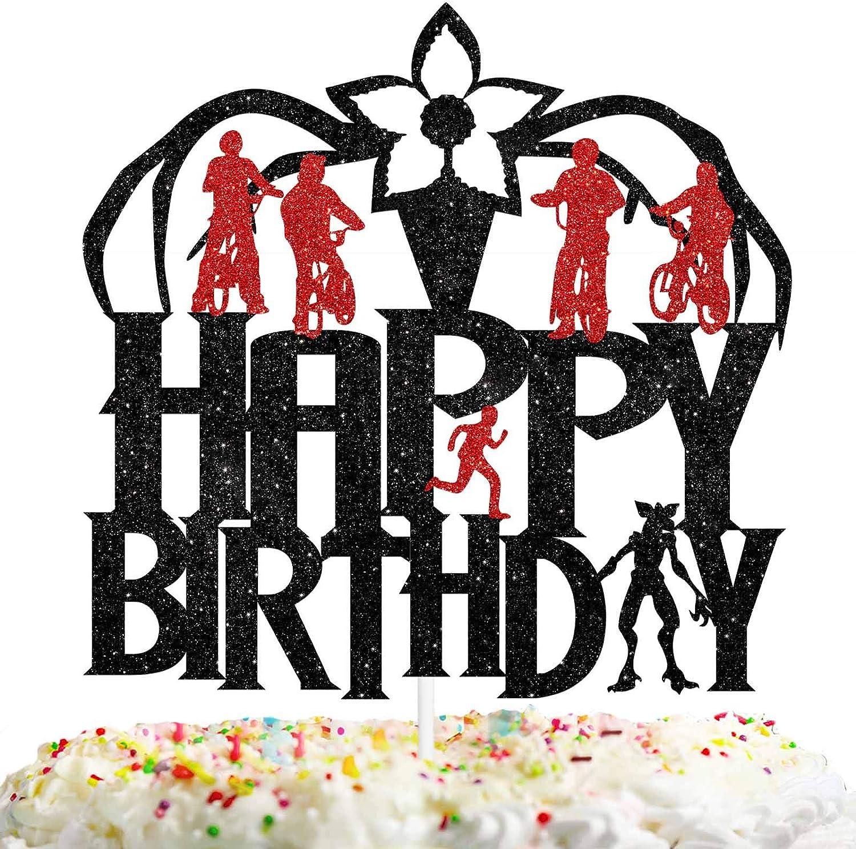 Happy Birthday Cake Topper TV Program Theme Eleven Things Party Decor Picks for Children Birthday Decorations Supplies