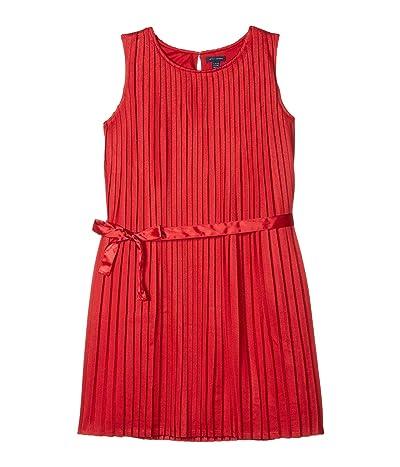 Tommy Hilfiger Kids Pleated Sleeveless Dress (Big Kids) (Scarlet Dress) Girl