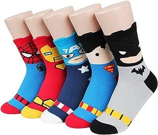 Super Heros Series Women's Socks 5pairs(5color)=1pack Made in Korea