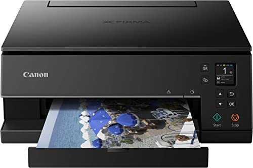 Canon Pixma TS6320 Wireless All-In-One Photo Printer with Copier, Scanner and Mobile Printing, Black, Amazon Dash Rep...