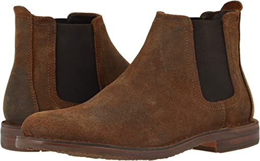 Brown English Waxed Suede