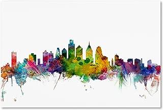 Philadelphia Pennsylvania Skyline by Michael Tompsett, 22 x 32