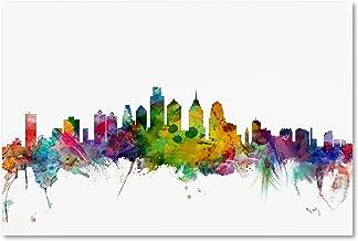 Philadelphia Pennsylvania Skyline by Michael Tompsett, 30x47-Inch Canvas Wall Art