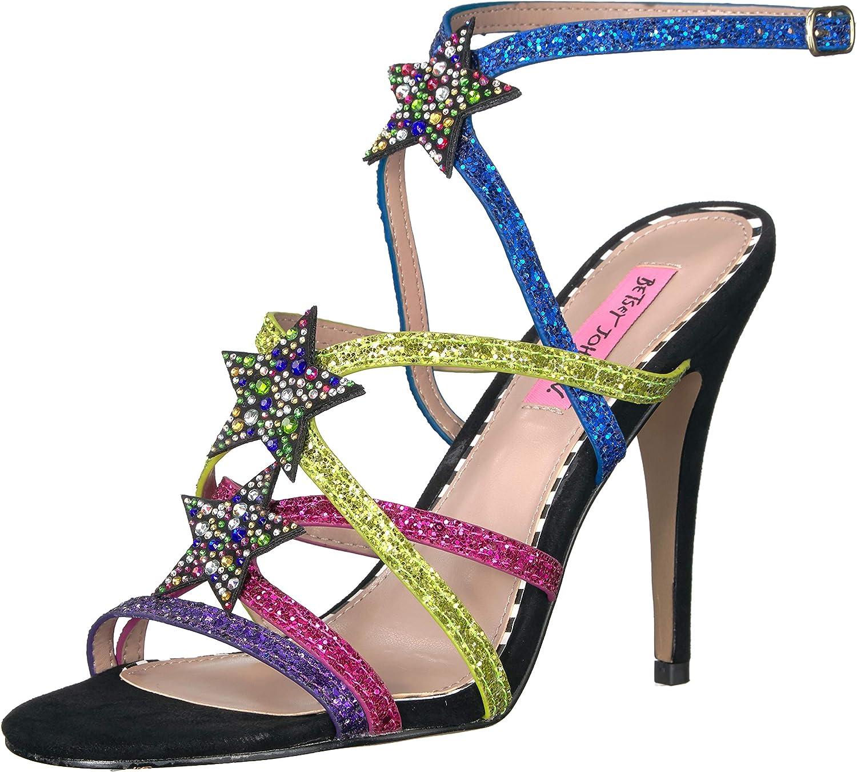 Betsey Johnson Womens Shining Heeled Sandal