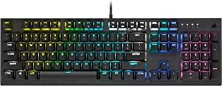 Corsair K60 RGB Pro Low Profile Mechanical Gaming Keyboard - CHERRY MX Low Profile SPEED Mechanical Keyswitches – Slim and...