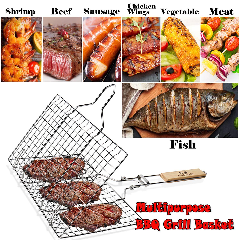 G.a HOMEFAVOR Bo/îte Fum/ée Non Adh/érent en Acier Inoxydable Ustensile Barbecue pour Parfumer des Nourriture Barbecue//Grill N/écessaire