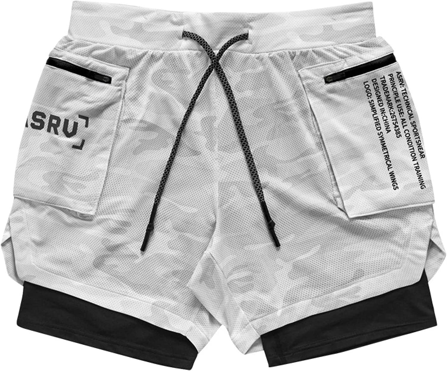 Jubaton Summer Shorts Men's Loose Large Size Double-Layer Straight Quick-Drying