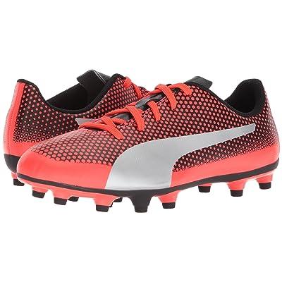 Puma Kids Spirit FG Soccer (Little Kid/Big Kid) (Red Blast/Puma Silver/Puma Black) Kids Shoes