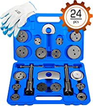 OrionMotorTech 24-Piece Disc Brake Caliper Tool Kit, Front and Rear Brake Piston Compression Tool, Professional Automotive Mechanic Tool Set