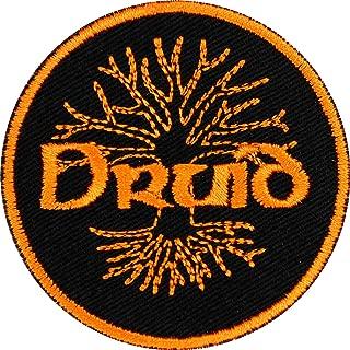 D&D Druid Patch Iron On Applique - Black, Orange - 2.5