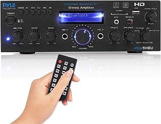 Wireless Bluetooth Home Stereo Amplifier - Multi-Channel 200 Watt Power Amplifier Home Audio Receiver System w/HDMI, Optic...