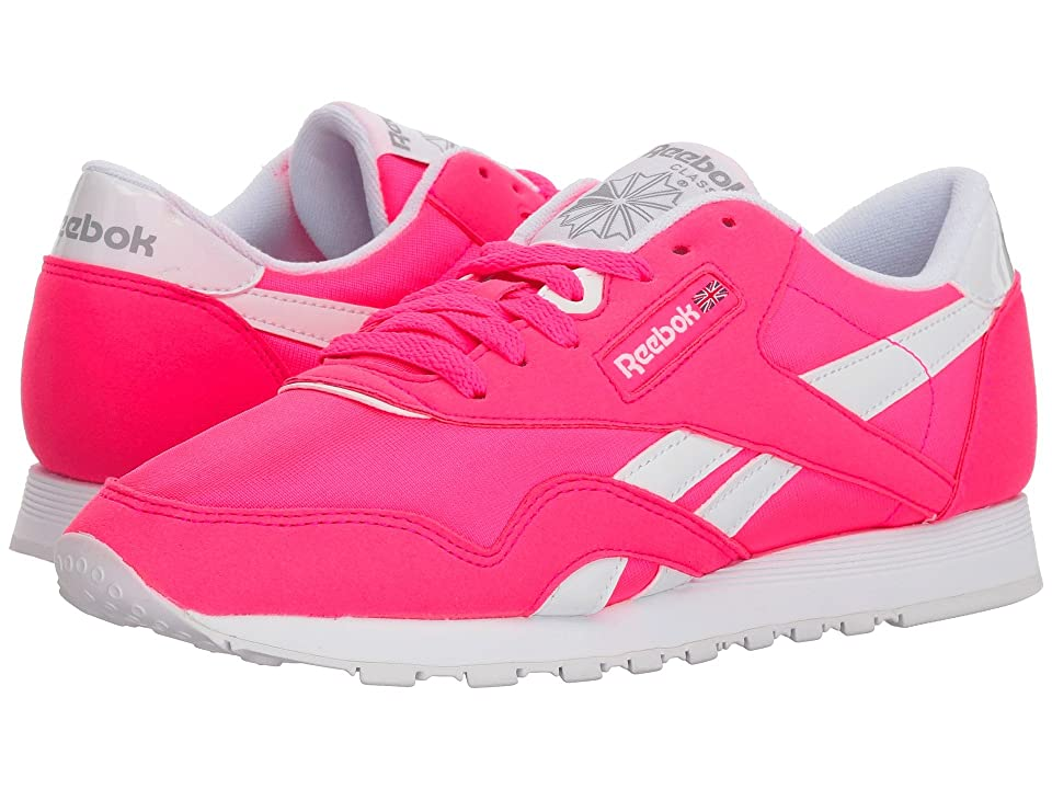Reebok Lifestyle Classic Nylon Brights (Acid Pink/White/Stark Grey) Women
