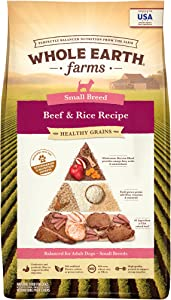 Whole Earth Farms Healthy Grains Small Breed Beef and Rice Recipe Dry Dog Food - 12 lb. Bag