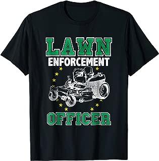 Lawn Enforcement Officer T-Shirt | Lawn Ranger Mower Tee
