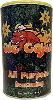 Ole Cajun All Purpose Seasoning - Low Salt - No MSG - All Natural - 7 oz