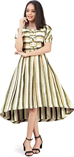 Girl s Fit Flare Knee Length Dress