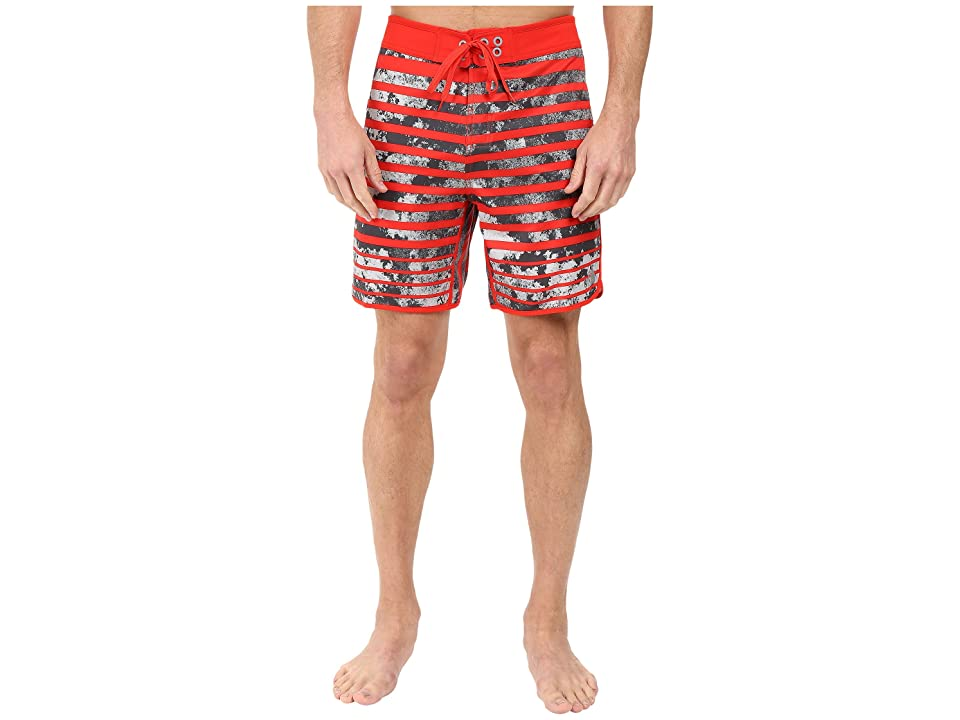 The North Face Whitecap Boardshorts Short (Fiery Red Moss Stripe (Prior Season)) Men