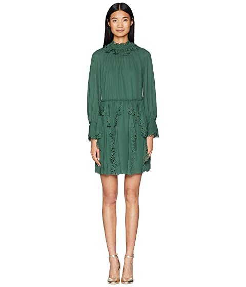 See by Chloe Laser Cut Eyelet Dress