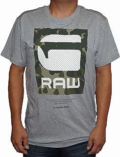ジースターロウ G-STAR RAW 半袖Tシャツ グレー 迷彩 D01301 メンズ