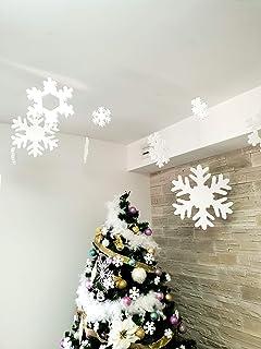 Fiocchi di neve per Natale - Fiocchi di neve in polistirolo per decorazione albero di natale da appendere diverse misure 2...