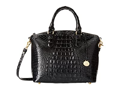 Brahmin Melbourne Duxbury Satchel (Black) Satchel Handbags