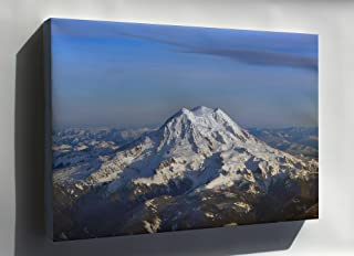 Canvas 24x36; Three Summits Of Mt. Rainier Are Liberty Cap, Columbia Crest And Point Success (Left To Right)