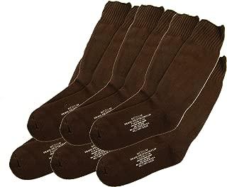 U.S. Military Issue Socks COYOTE BROWN - Made in U.S.A. - 6 PACK