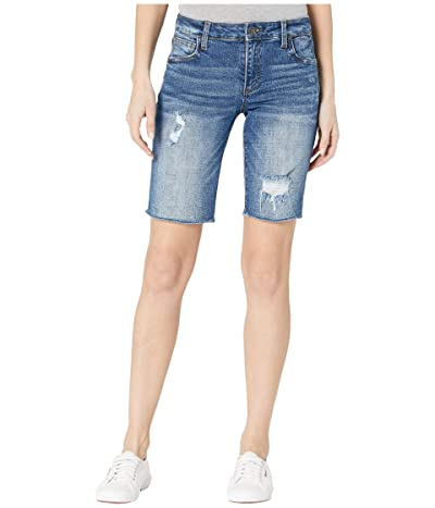 KUT from the Kloth Sophie Bermuda Shorts Five-Pockets Fray Hem (Include) Women