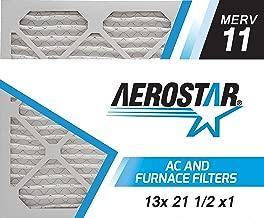 Aerostar 13x21 1/2x1 MERV 11, Pleated Air Filter, 13 x 21 1/2 x 1, Box of 6, Made in The USA